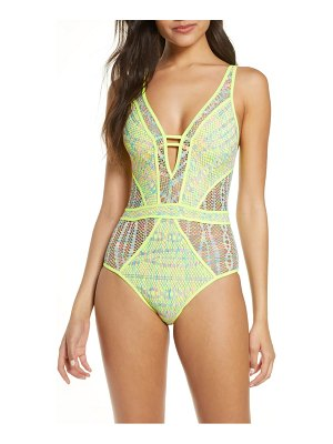 Becca reveal plunge one-piece swimsuit