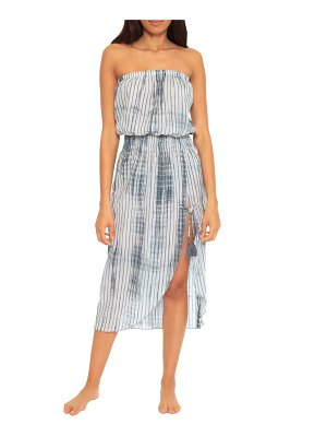 Becca sol line strapless cotton cover-up dress