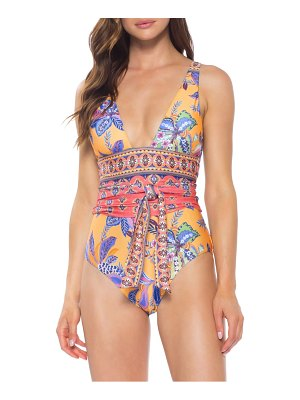 Becca tapestry bloom one-piece swimsuit