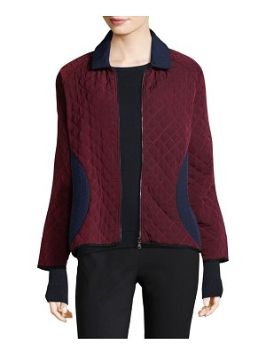 Becken Colorblock Padded Bomber Jacket