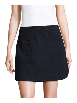 Becken Washed Slim-Fit Mini Skirt