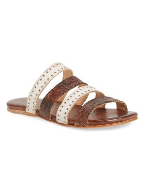 Bed Stu henna slide sandal