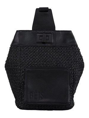BEIS the naturals raffia sling backpack