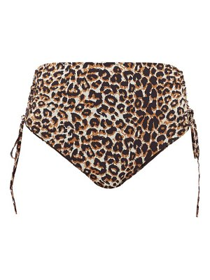 Belize alice high-rise leopard-print bikini briefs