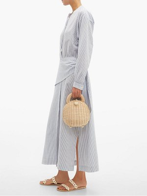 Belize anoush striped linen blend midi shirtdress