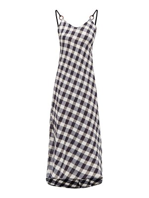 Belize carole v-neck cotton-gingham midi dress