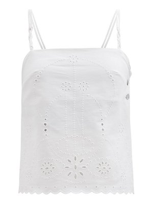 Belize daria broderie-anglaise cotton-poplin top