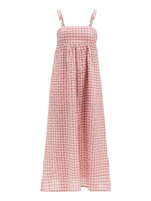 Belize louisa gingham cotton-blend midi dress