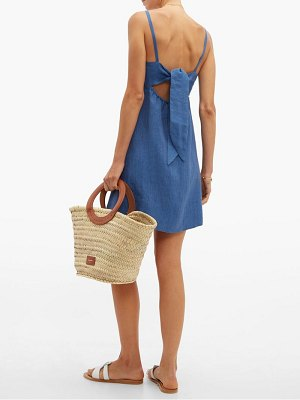 Belize luna cut out linen mini dress