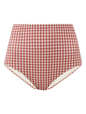 Belize pepe high-rise gingham bikini briefs