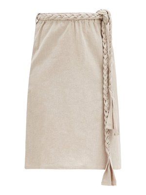 Belize phoebe cotton-blend midi skirt