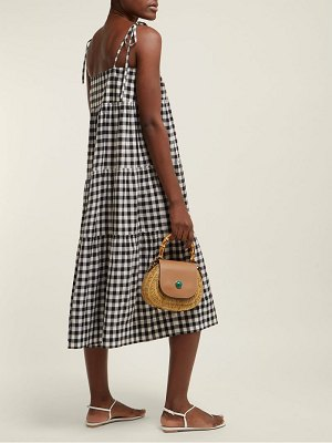 Belize sally gingham midi dress