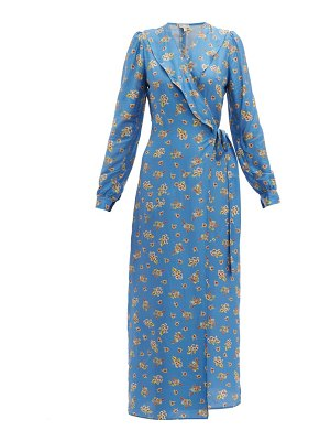 Belize salome floral print charmeuse wrap dress