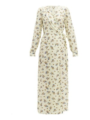 Belize salome floral print silk blend wrap dress