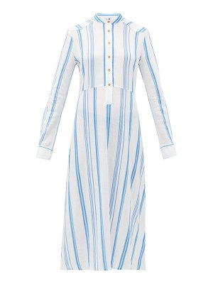 Belize silas striped cotton shirtdress
