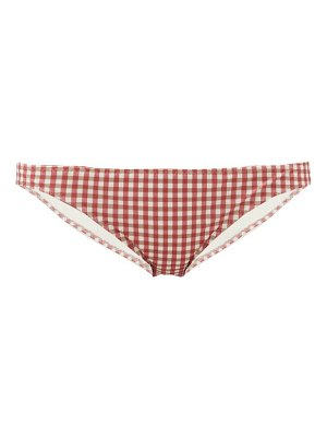 Belize winona gingham seersucker bikini briefs