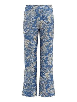 Belize yoko palm print crepe trousers