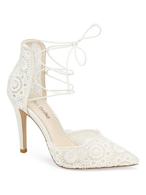 BELLA BELLE cameron pointed toe lace pump