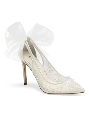 BELLA BELLE edna bow pointed toe pump