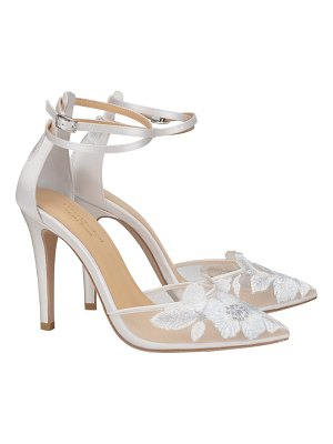 BELLA BELLE embroidered ankle strap pump