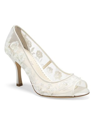 BELLA BELLE emily embroidered peep toe pump