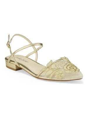 BELLA BELLE shirley embroidered mesh pointed toe flat
