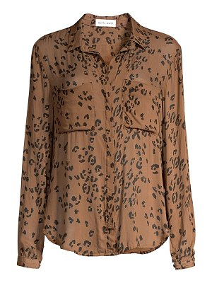 Bella Dahl leopard-print button-front shirt