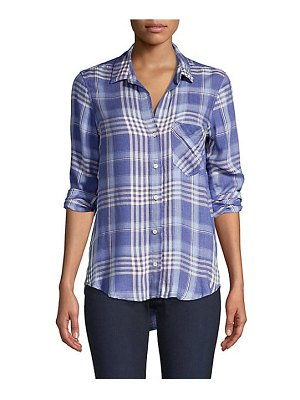 Bella Dahl plaid pocket button-down shirt