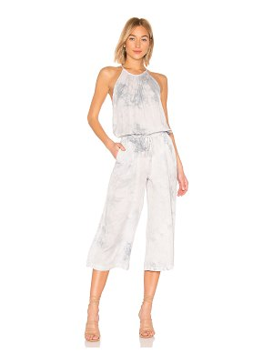 Bella Dahl pleated wide leg crop jumpsuit