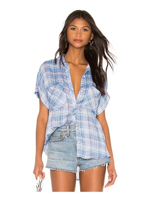 Bella Dahl rolled short sleeve button down top