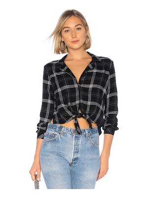 Bella Dahl side slit tie up button down