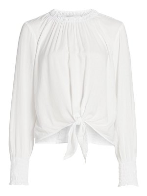 Bella Dahl smocked tie-front top