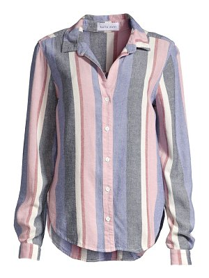Bella Dahl striped button-front shirt