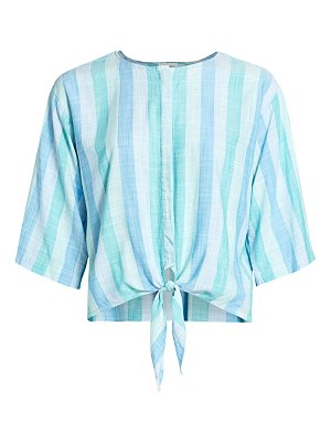 Bella Dahl striped tie front top