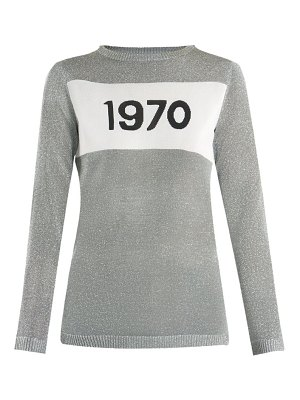 Bella Freud 1970-intarsia metallic sweater