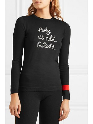 Bella Freud baby it's cold outside embroidered wool sweater