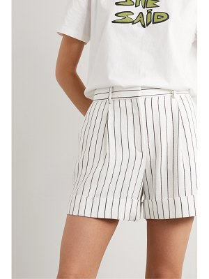 Bella Freud charlie pinstriped woven shorts