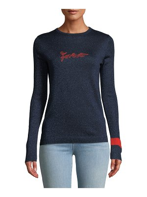Bella Freud Forever Embroidered Metallic Pullover Sweater