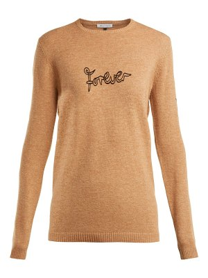 Bella Freud Forever-embroidered wool-blend sweater