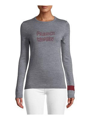 Bella Freud French Women Embroidered Cashmere Sweater