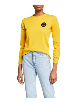 Bella Freud Happy Smiley Face Cashmere Sweater