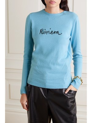 Bella Freud riviera embroidered cashmere sweater