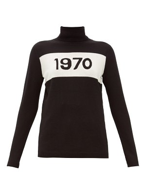 Bella Freud 1970-intarsia wool sweater