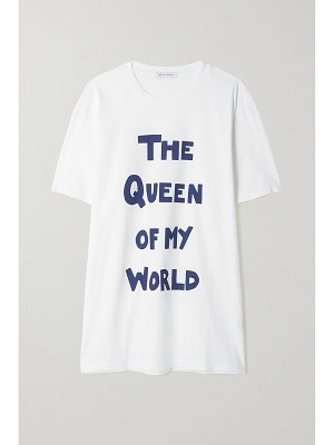 Bella Freud the queen of my world oversized printed organic cotton-jersey t-shirt