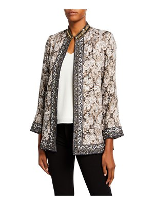Bella Tu Vanessa Animal-Print Jacket