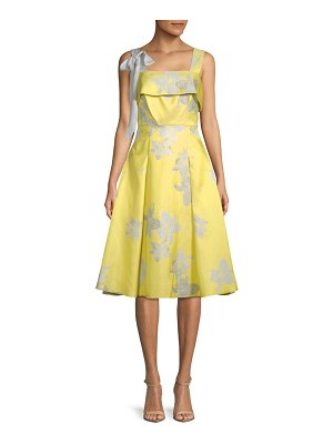 Belle Badgley Mischka Brianna Floral A-Line Dress
