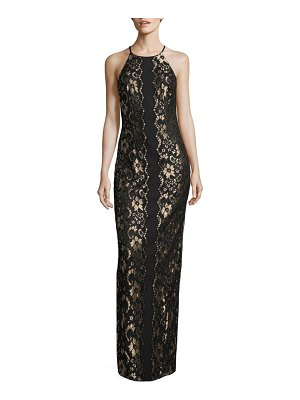 Belle Badgley Mischka Wenda Lace Column Gown