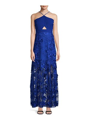 Belle by Badgley Mischka Casey Embroidered Floral Dress