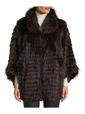 Belle Fare Fox Fur Oversized Cape Coat