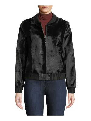 Belle Fare Goat Fur Bomber Jacket